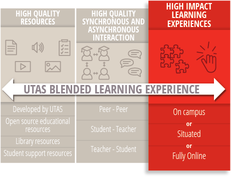 High Impact Learning Experiences - Online, On Campus, Situated