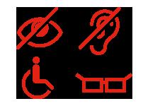 Icon representing accessibility