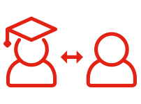 icon indicating 2 way teacher to student connection